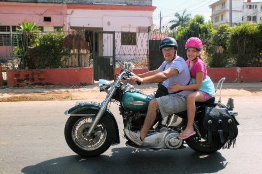 Ernesto Guevara (49) mit seiner Tochter.